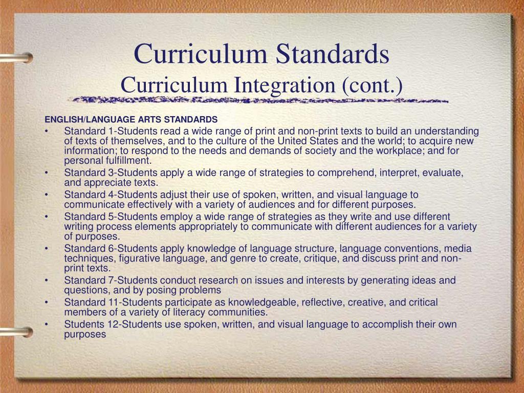 Curriculum Standards