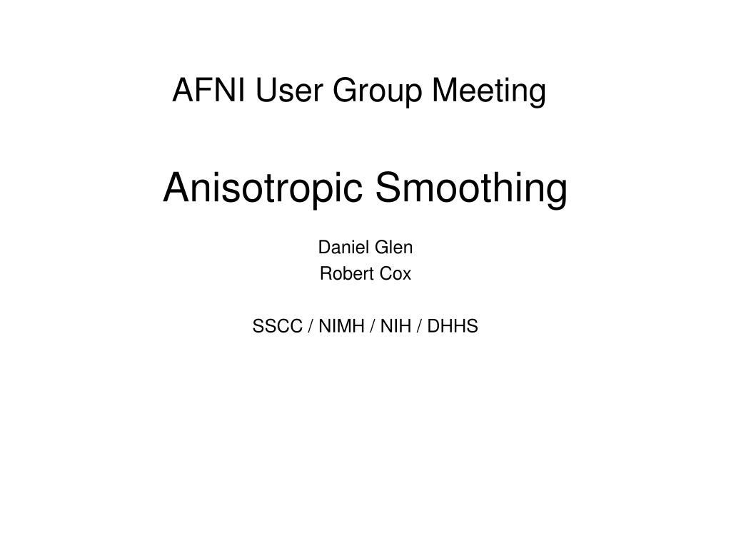 AFNI User Group Meeting