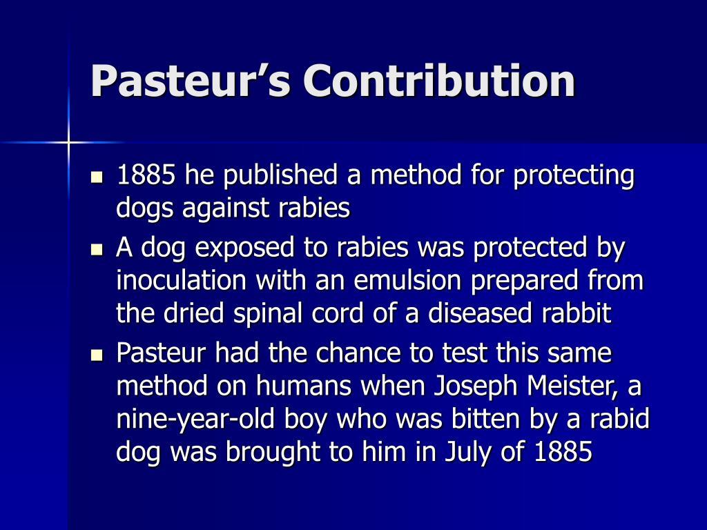 Pasteur's Contribution