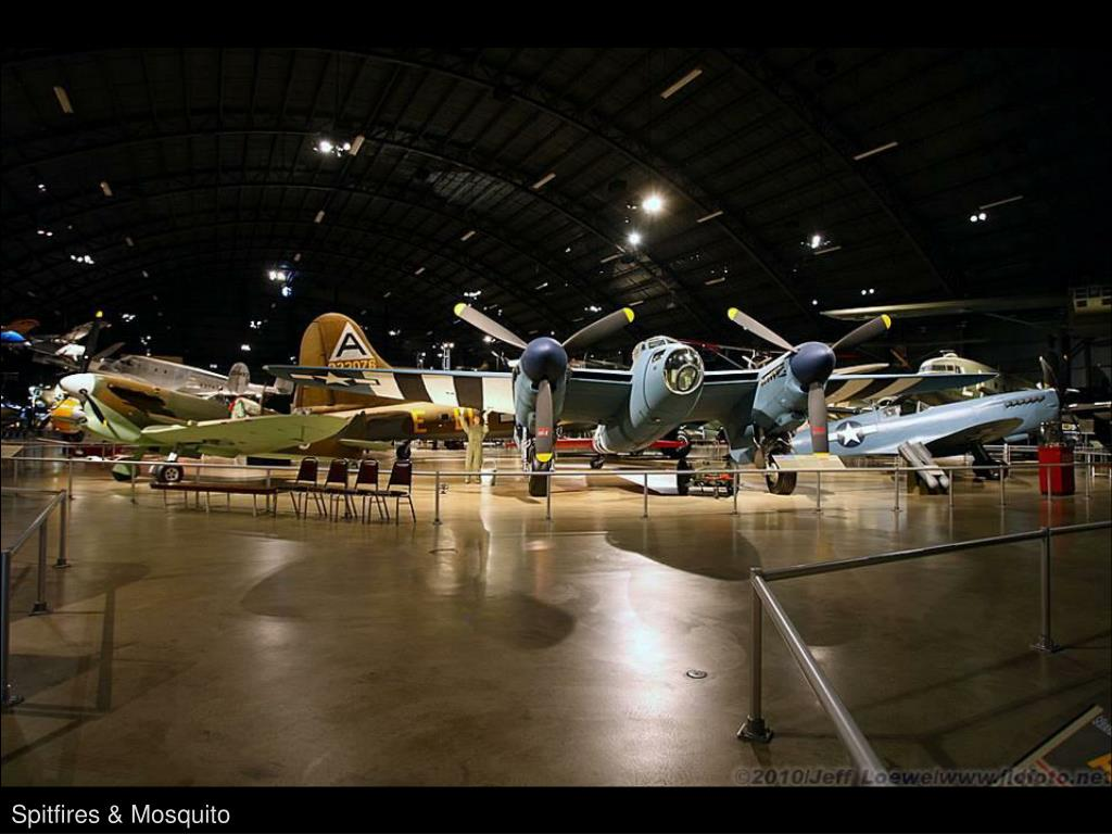 Spitfires & Mosquito