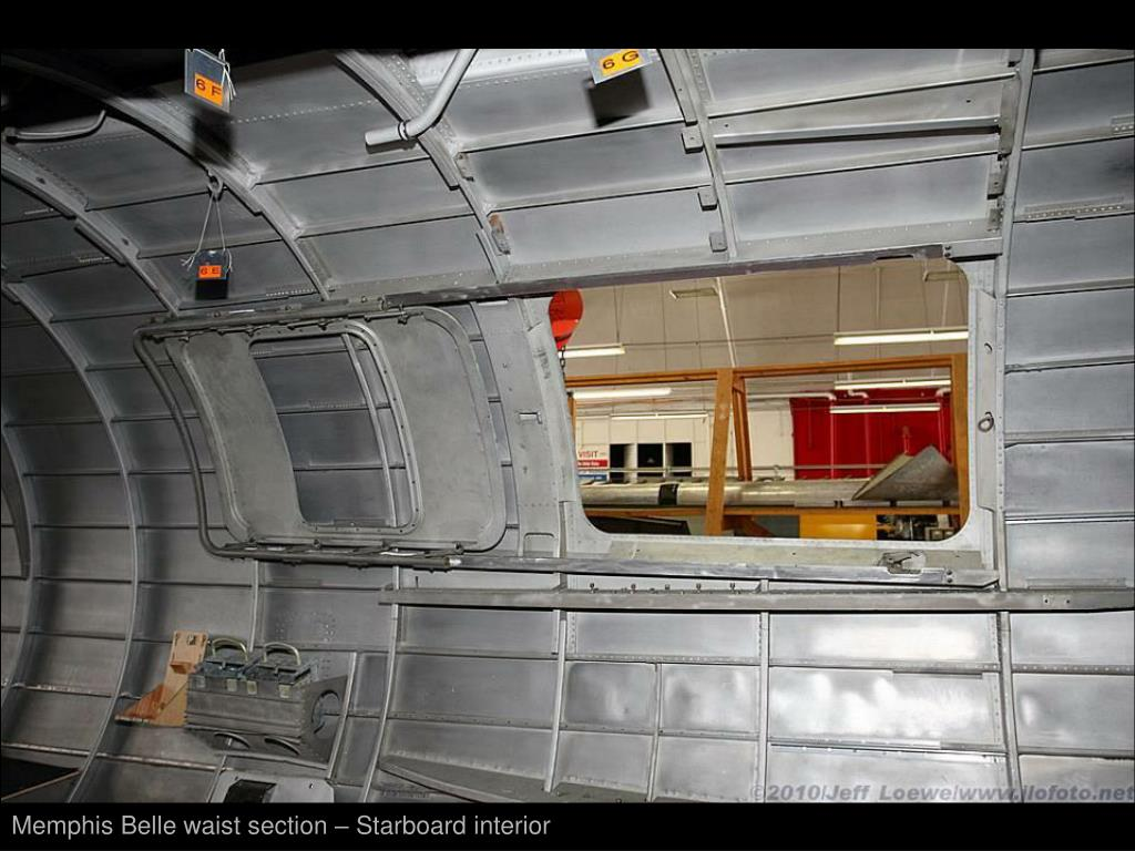 Memphis Belle waist section – Starboard interior
