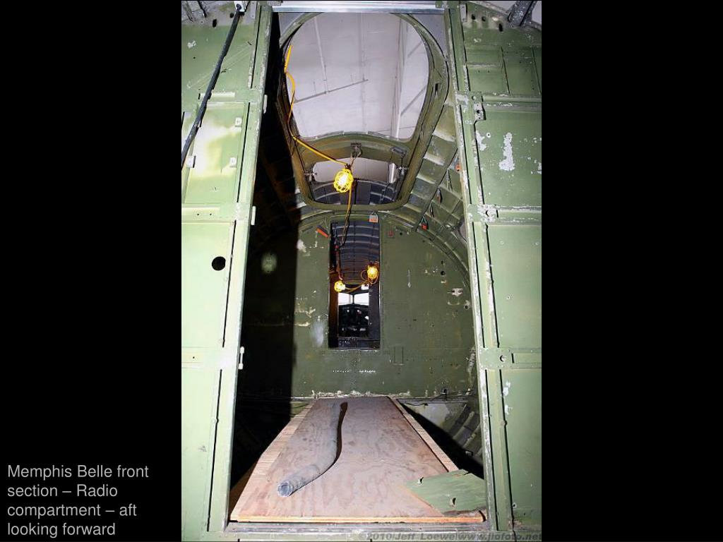 Memphis Belle front section – Radio compartment – aft looking forward