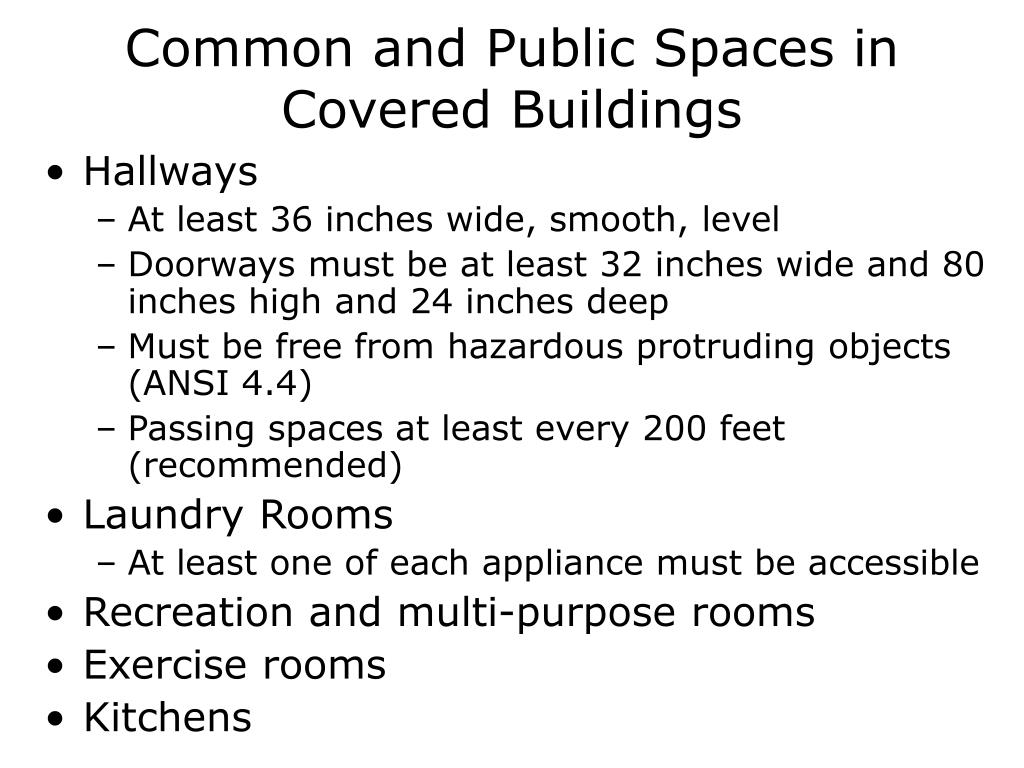 Common and Public Spaces in Covered Buildings
