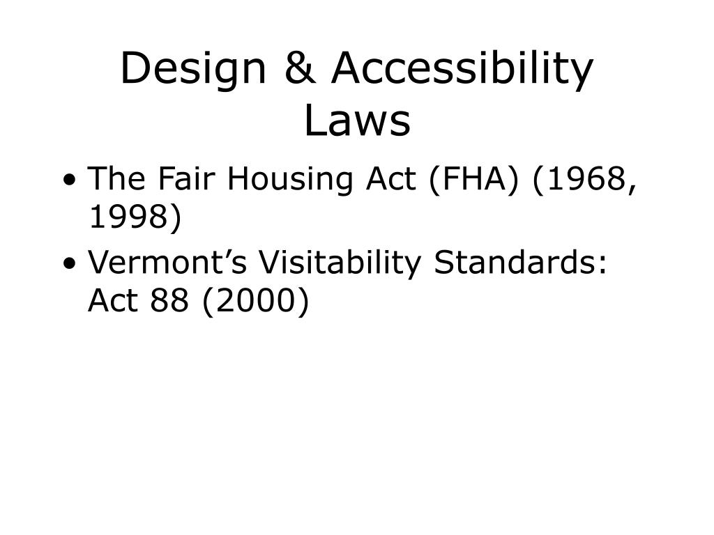 Design & Accessibility Laws