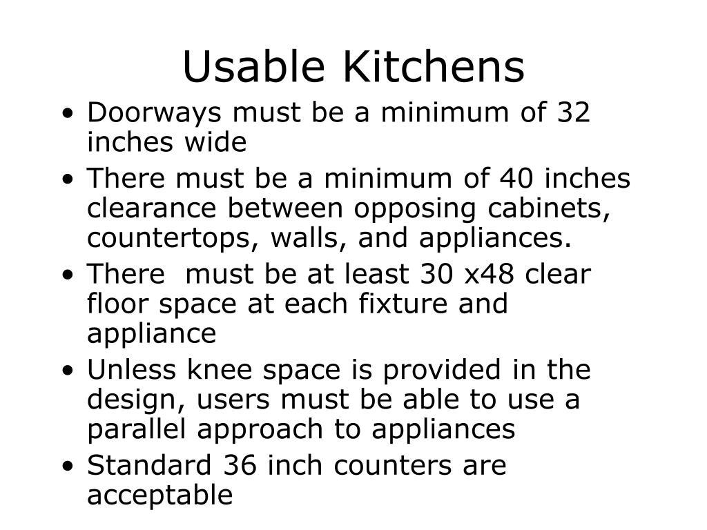Usable Kitchens