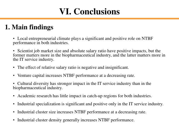 1. Main findings