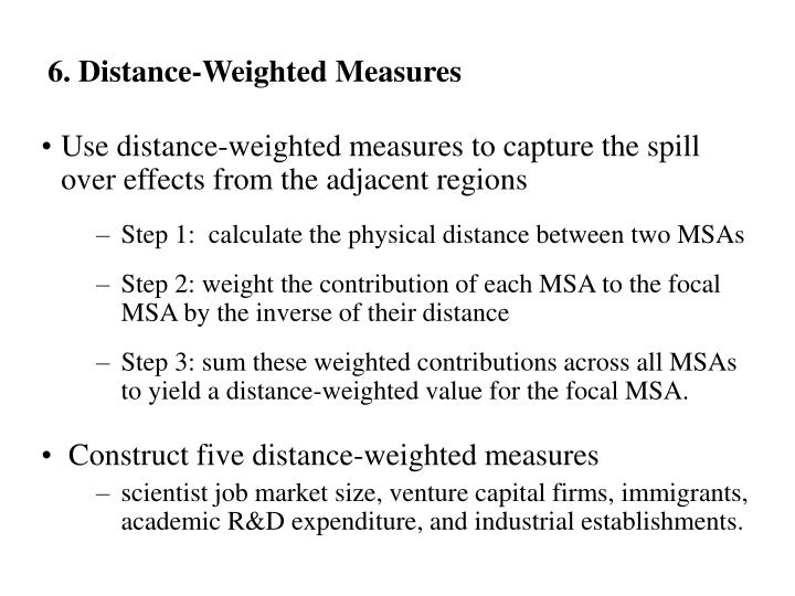 6. Distance-Weighted Measures