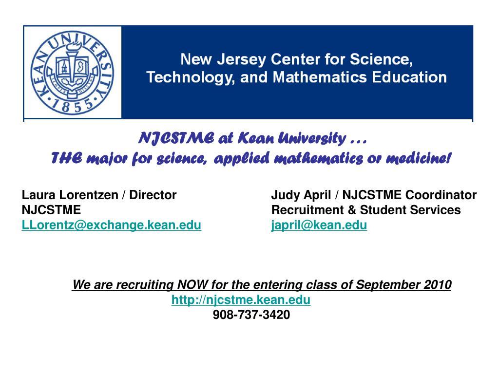 NJCSTME at Kean University . . .