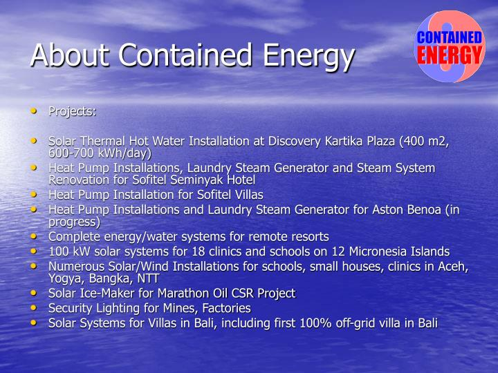 About contained energy3
