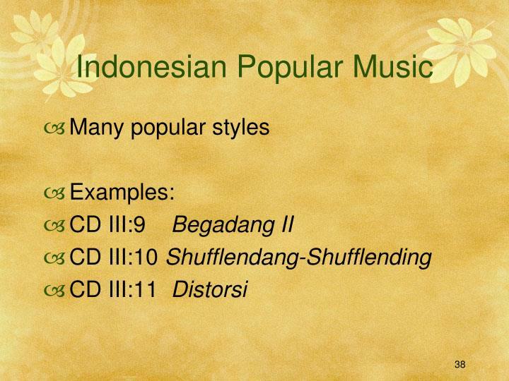 Indonesian Popular Music