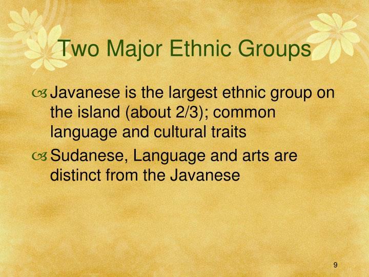 Two Major Ethnic Groups