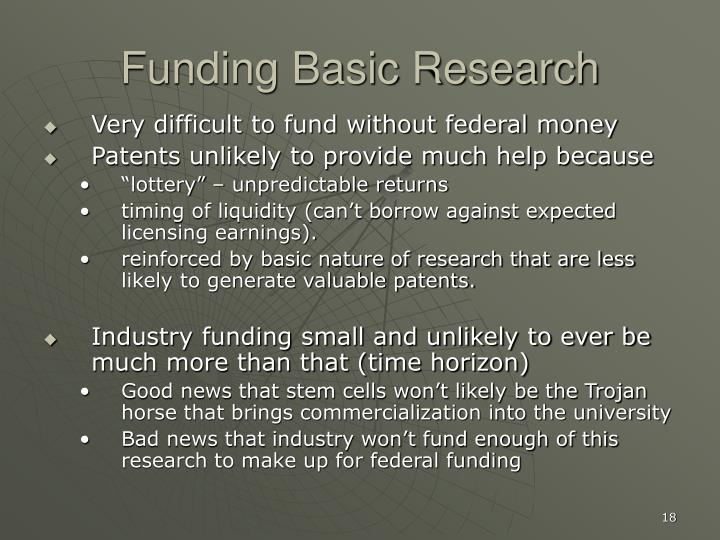 Funding Basic Research