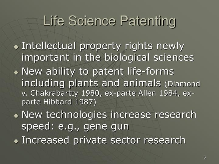 Life Science Patenting