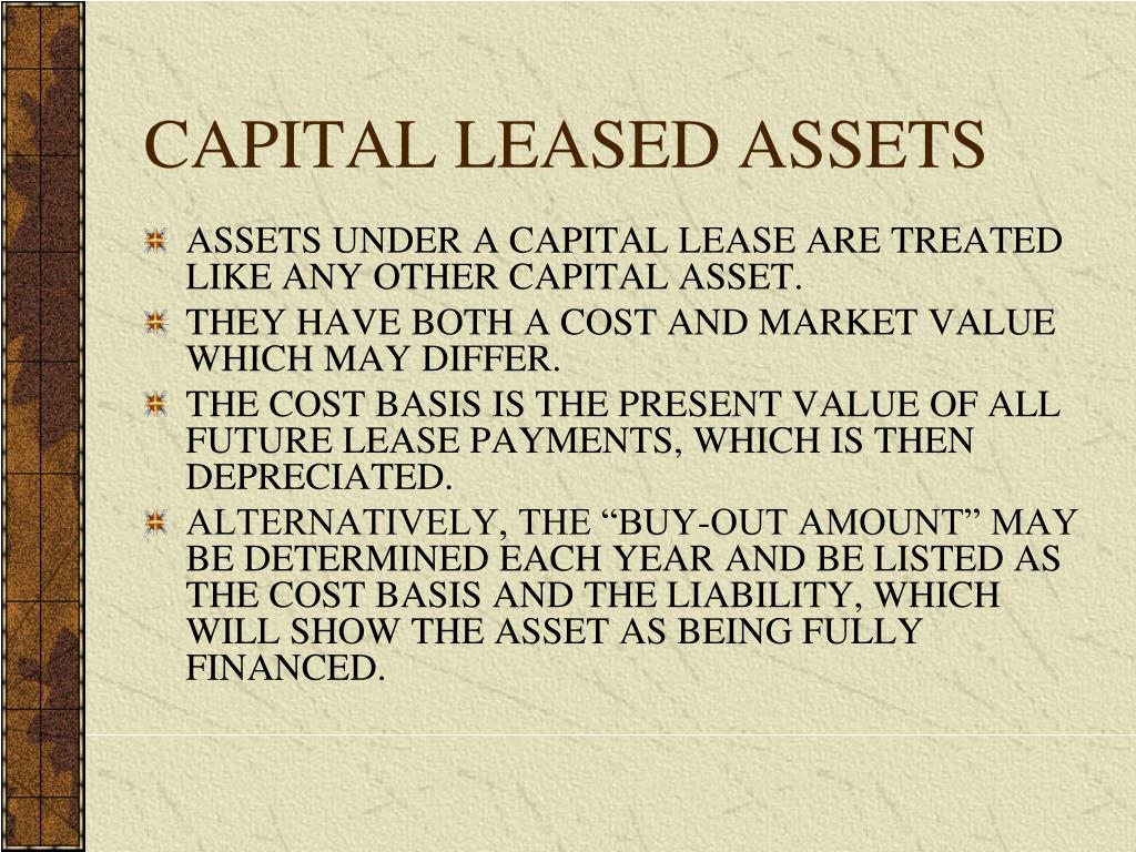 CAPITAL LEASED ASSETS