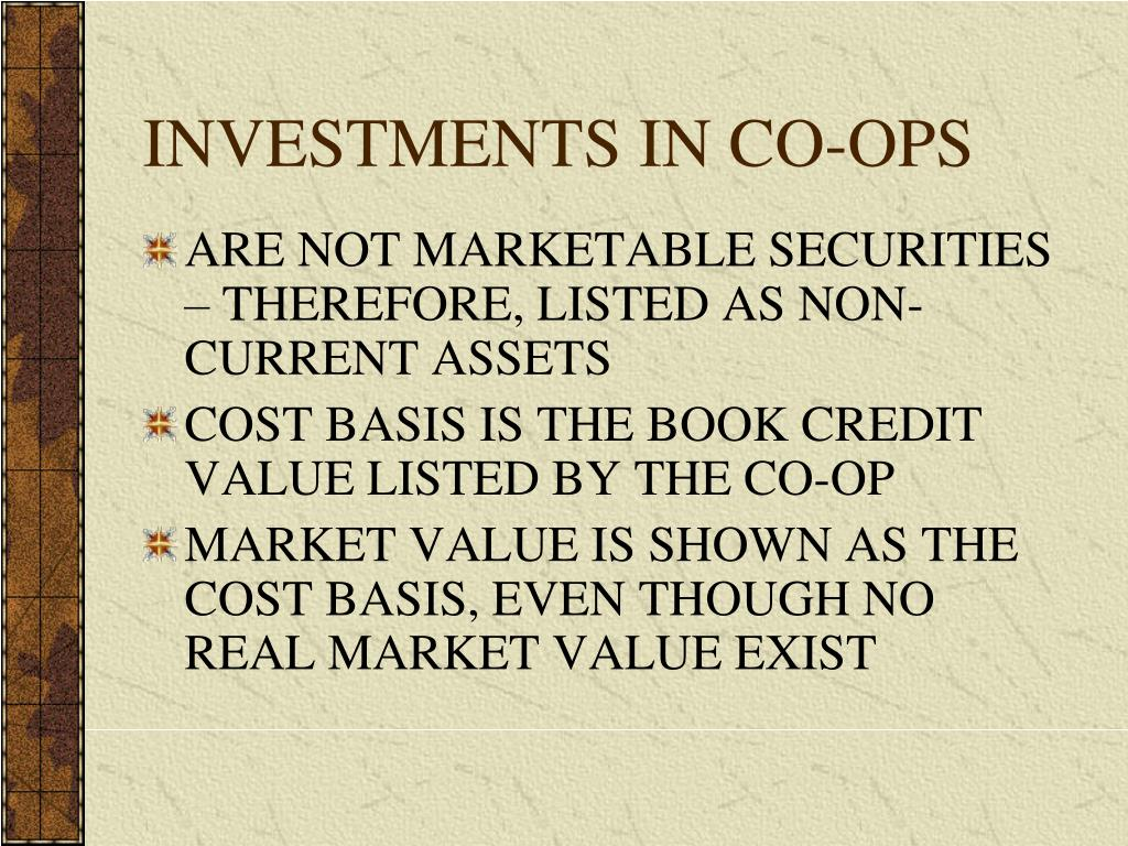 INVESTMENTS IN CO-OPS
