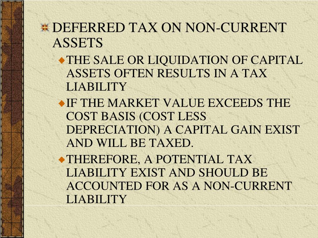 DEFERRED TAX ON NON-CURRENT ASSETS