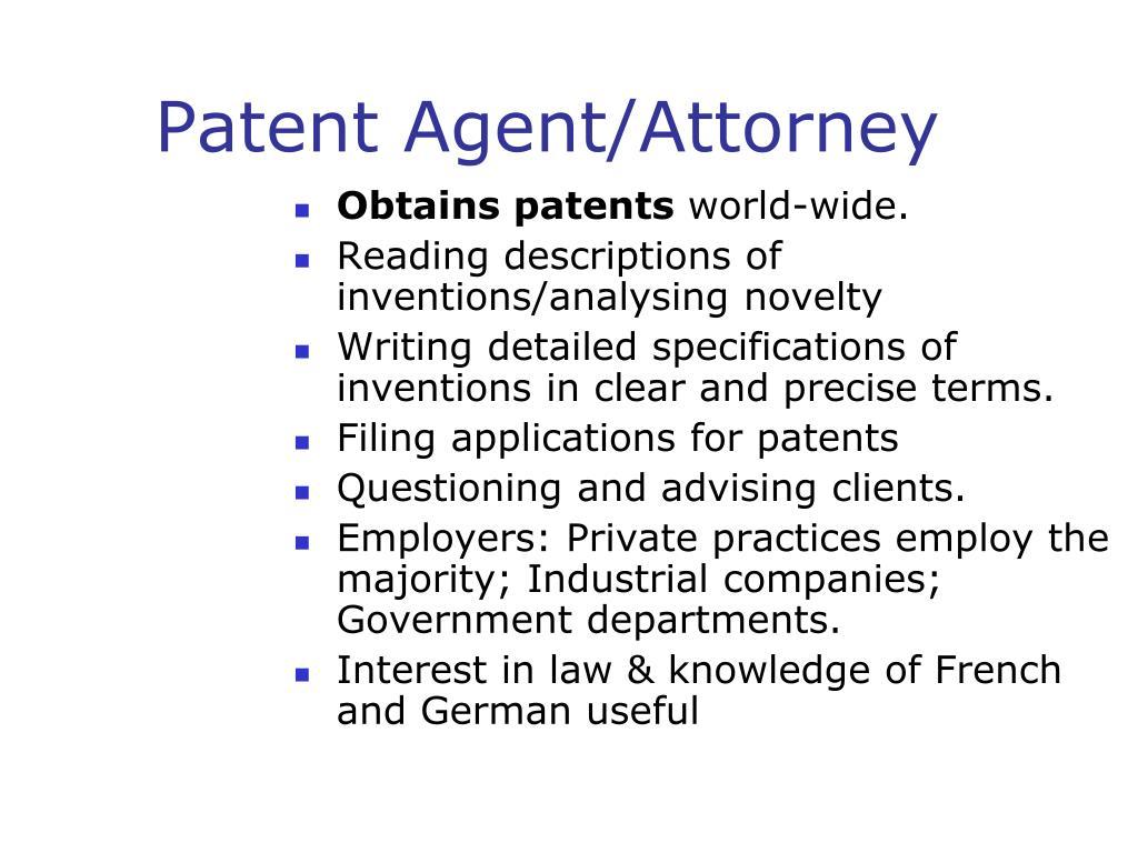 Patent Agent/Attorney