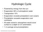 hydrologic cycle