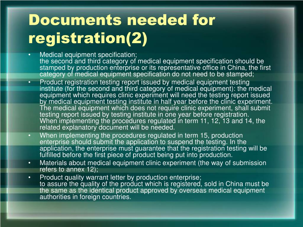 Documents needed for registration(2)