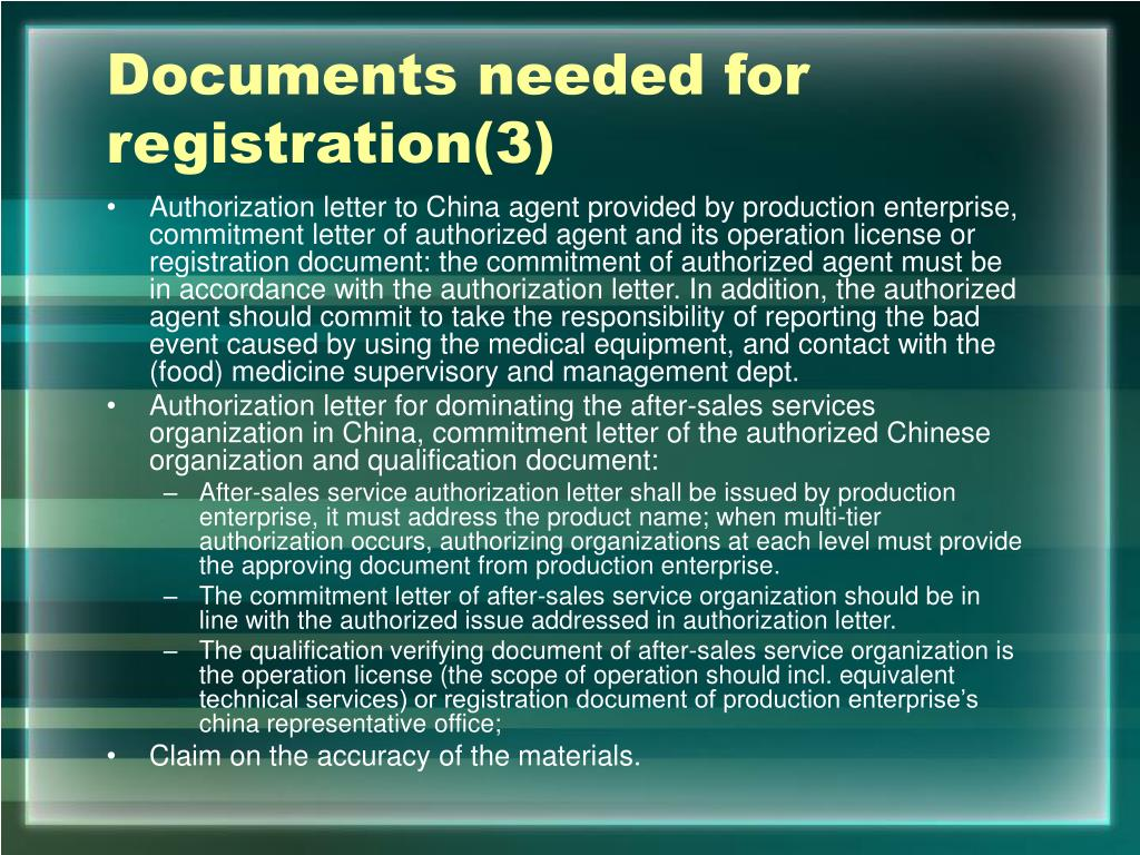 Documents needed for registration(3)