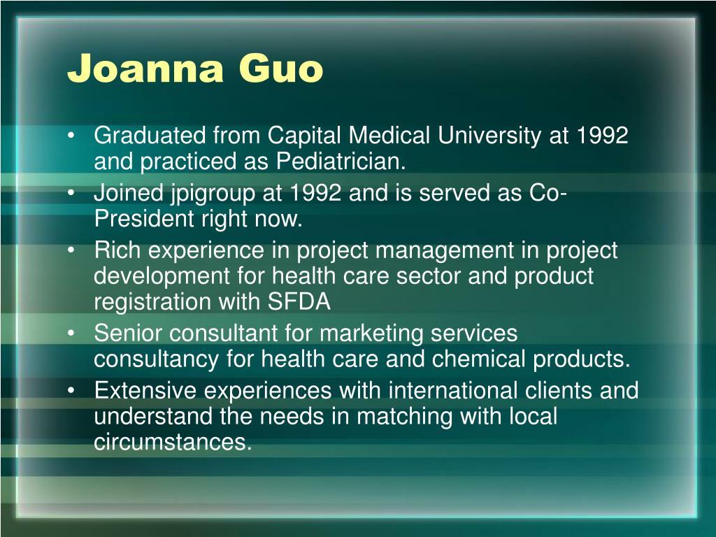 Joanna Guo