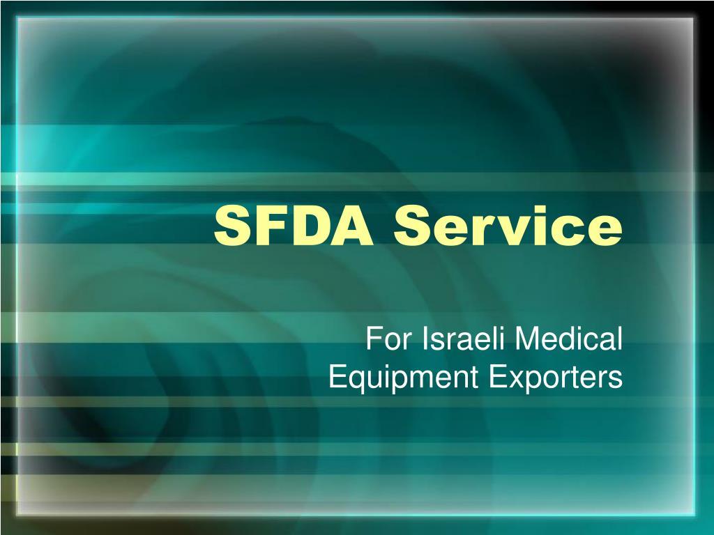 SFDA Service