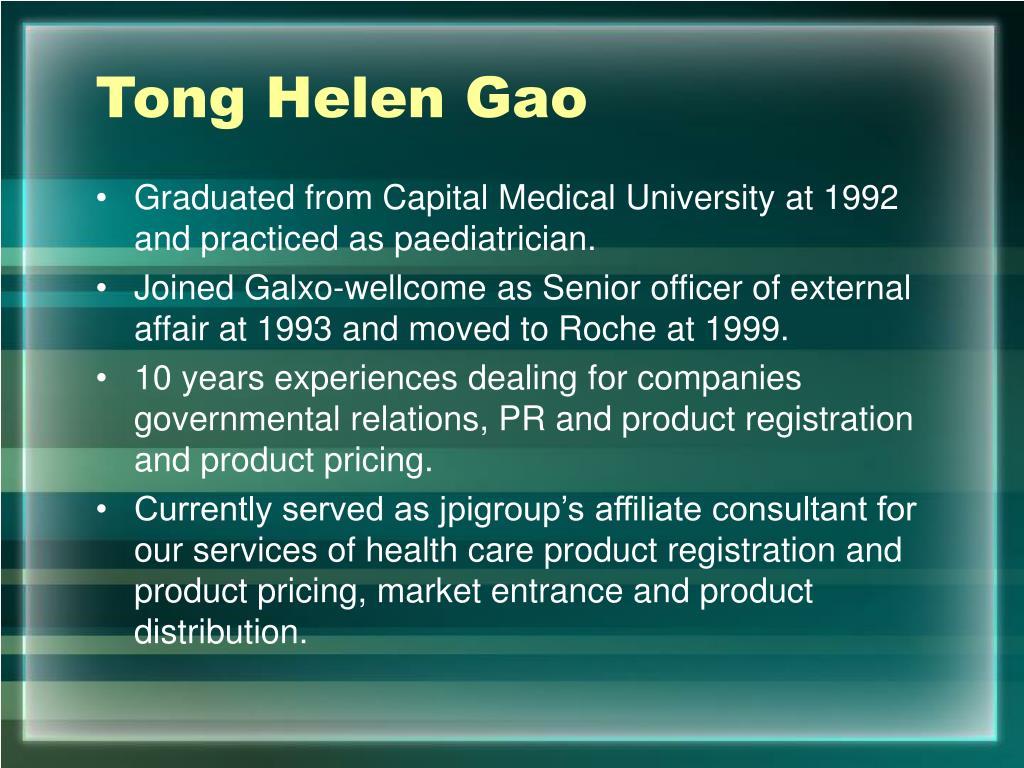 Tong Helen Gao
