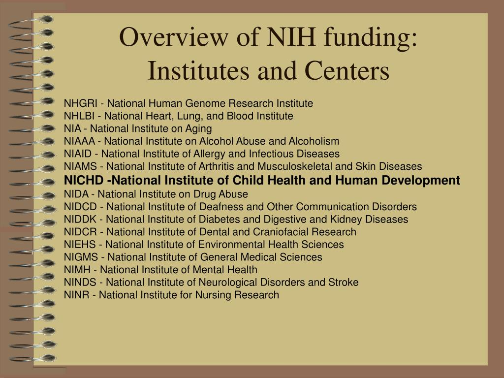 Overview of NIH funding: