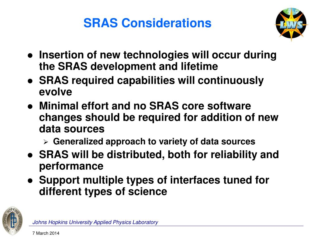SRAS Considerations