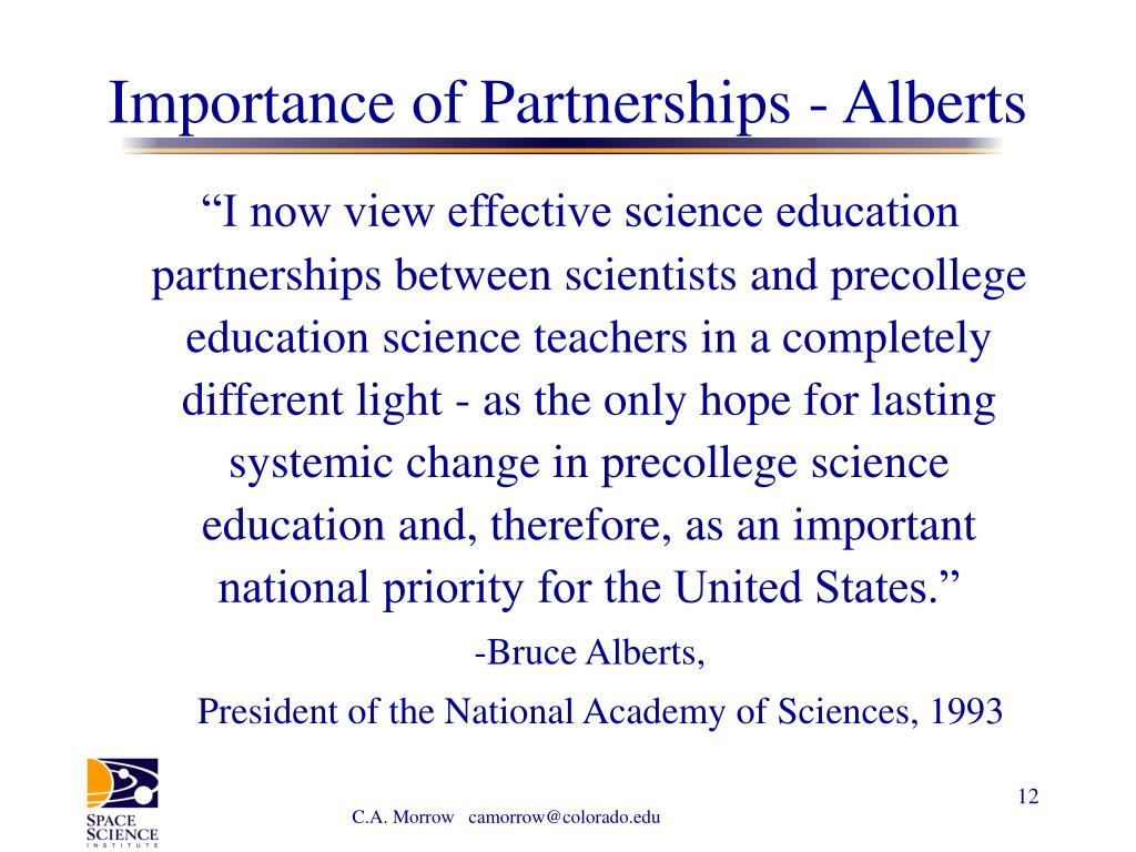 Importance of Partnerships - Alberts
