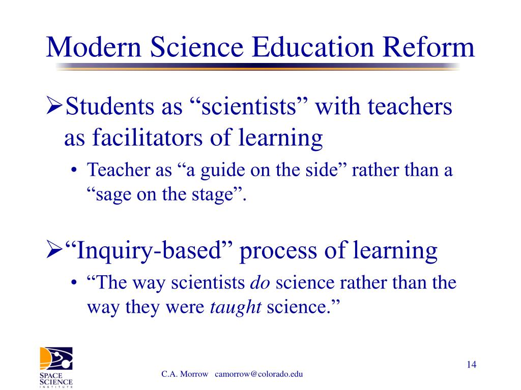 Modern Science Education Reform