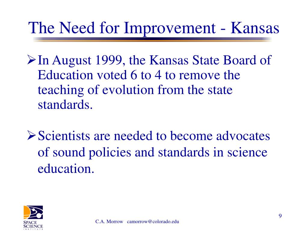 The Need for Improvement - Kansas