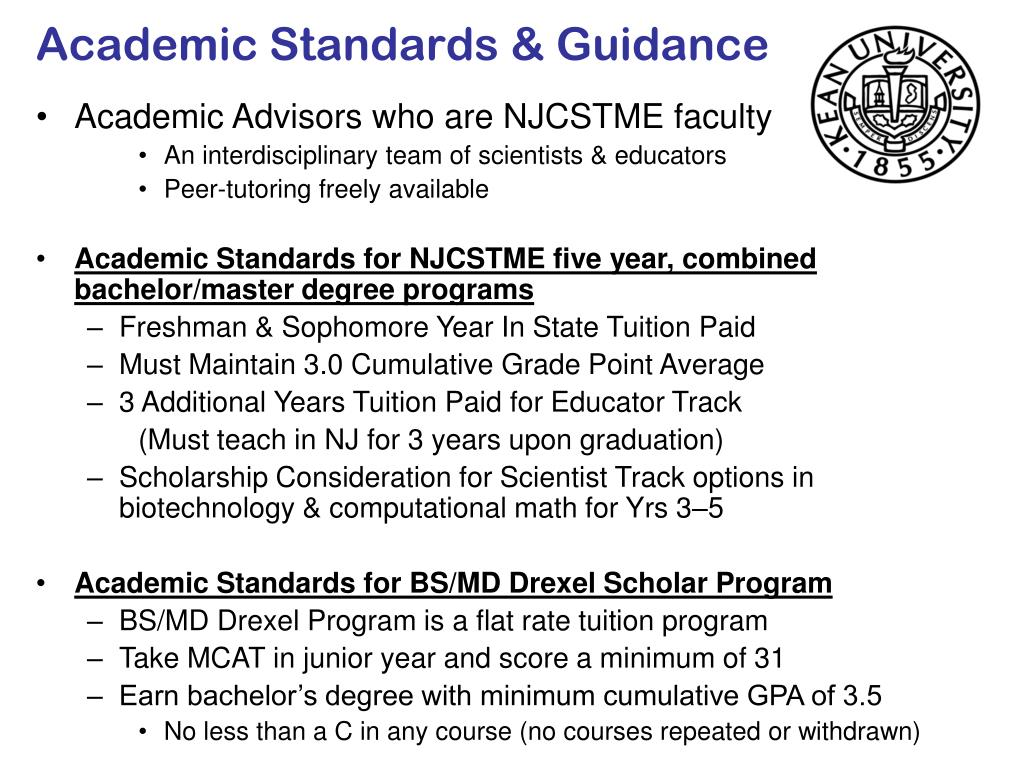 Academic Standards & Guidance