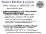academic standards guidance