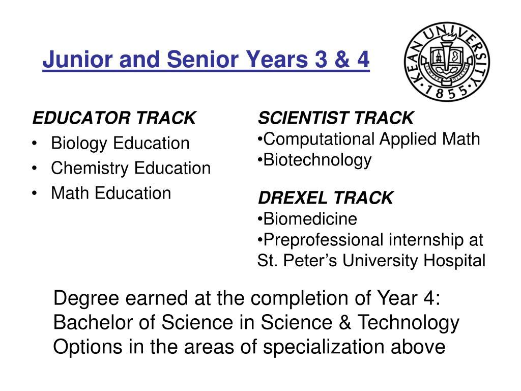 Junior and Senior Years 3 & 4