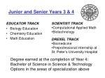 junior and senior years 3 4