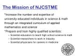 the mission of njcstme