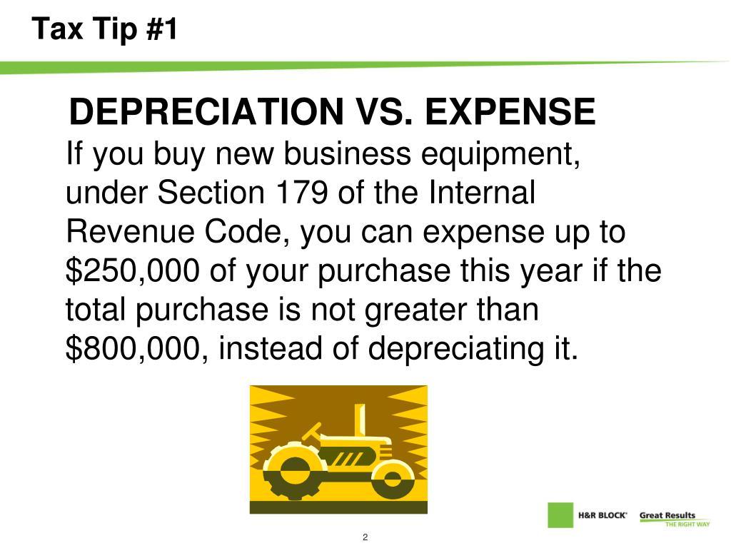Tax Tip #1