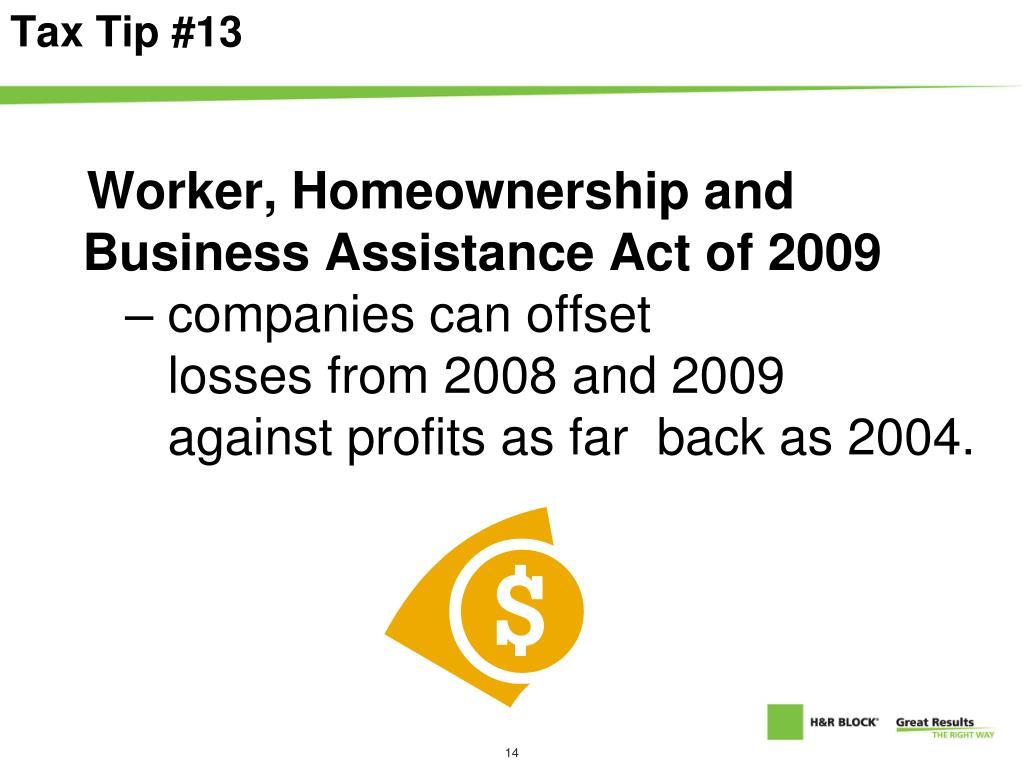 Tax Tip #13