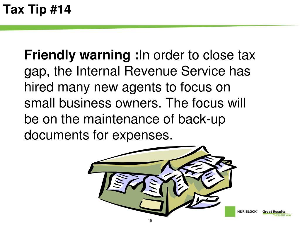 Tax Tip #14