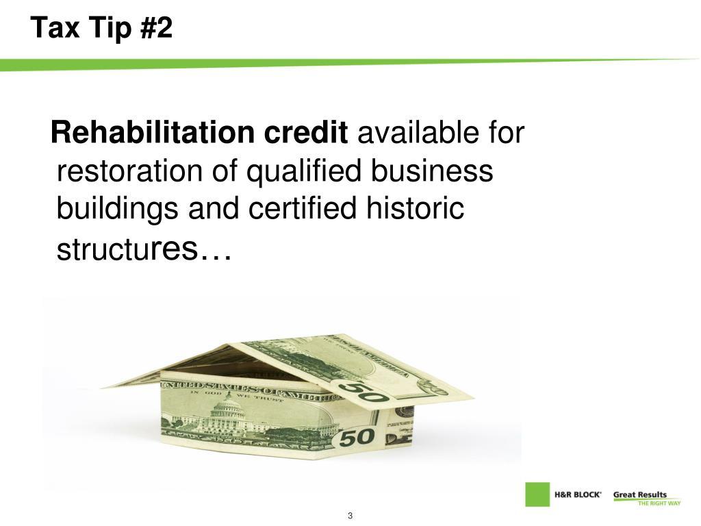 Tax Tip #2