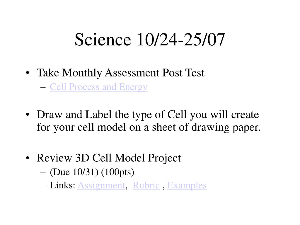Science 10/24-25/07