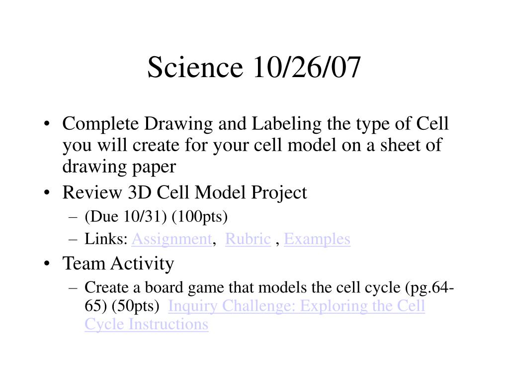 Science 10/26/07