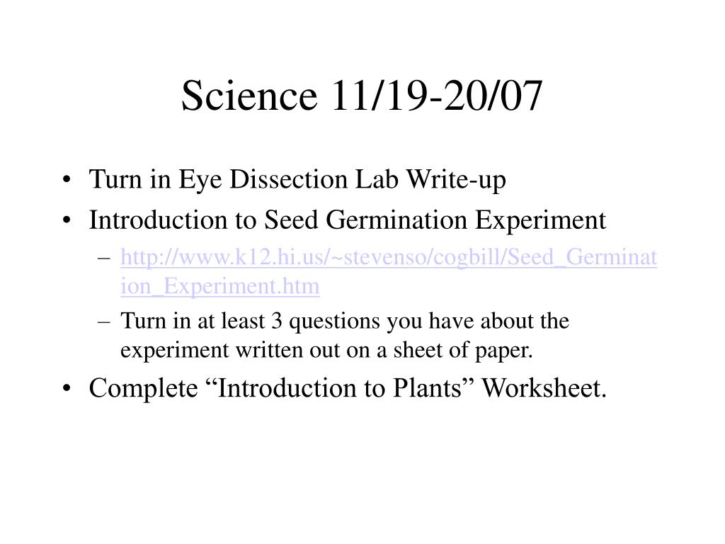 Science 11/19-20/07