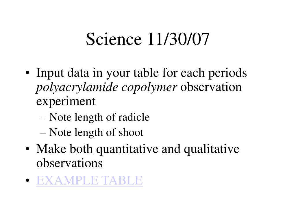 Science 11/30/07