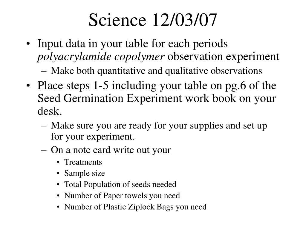 Science 12/03/07