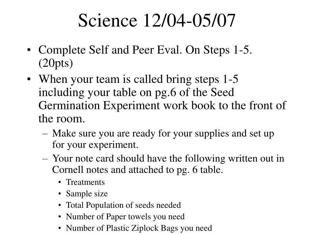 Science 12/04-05/07