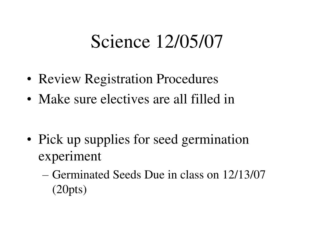 Science 12/05/07