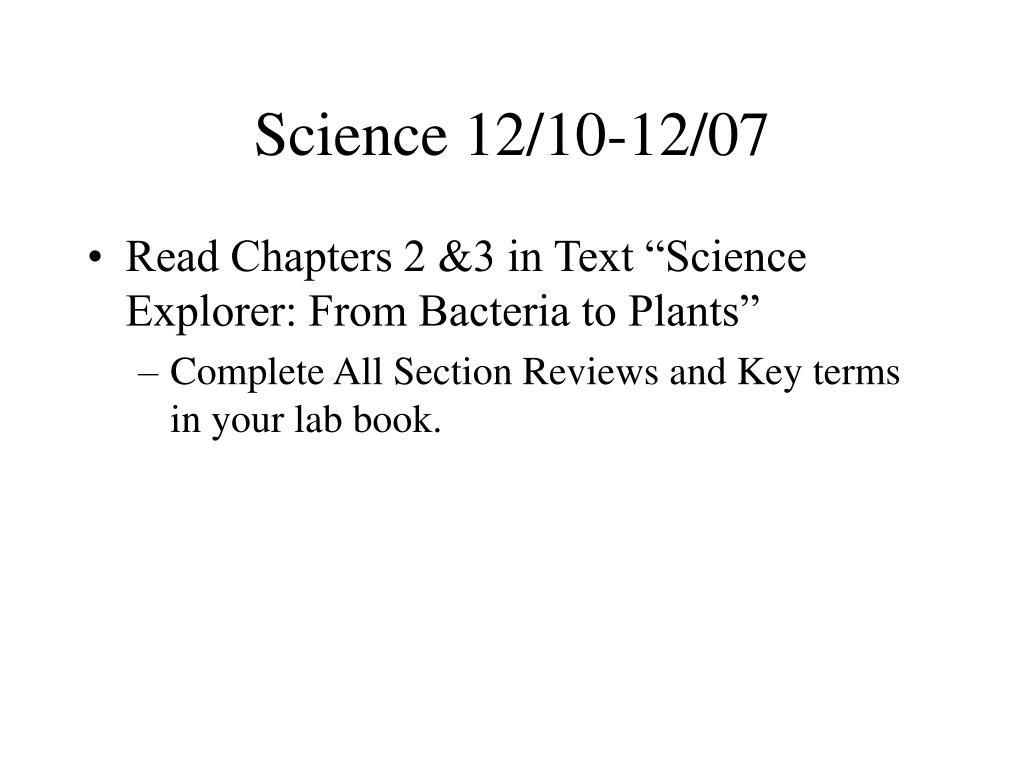 Science 12/10-12/07