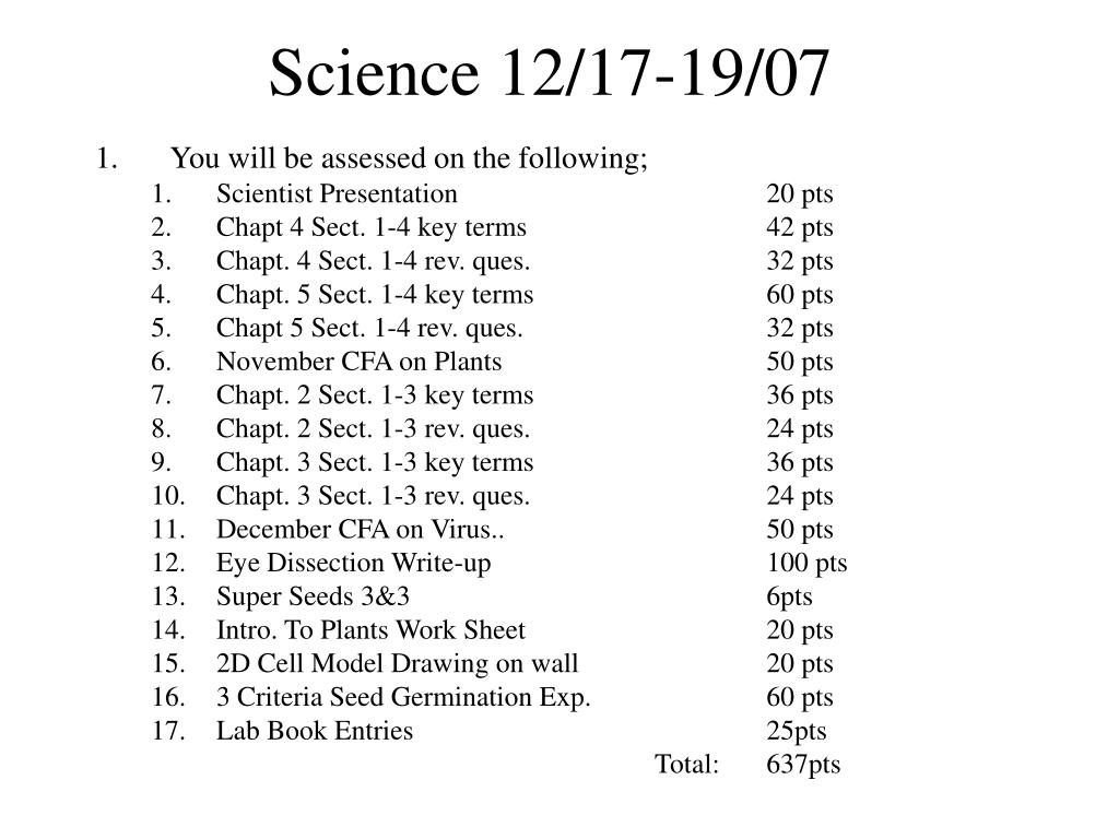 Science 12/17-19/07